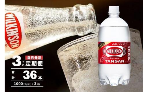 【3ヶ月お届け!】炭酸水ウィルキンソン定期便