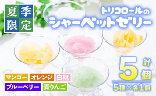 夏季限定!シャーベットゼリー計5個・5種!
