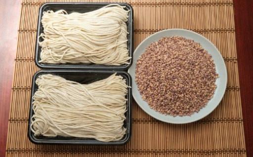 室戸産そば粉を使用!本格手打ちそばともち麦セット