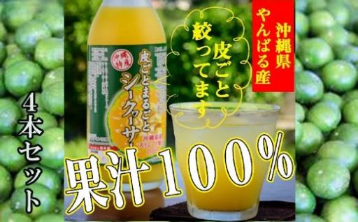 果汁100%皮まるごとシークワーサー4本セット