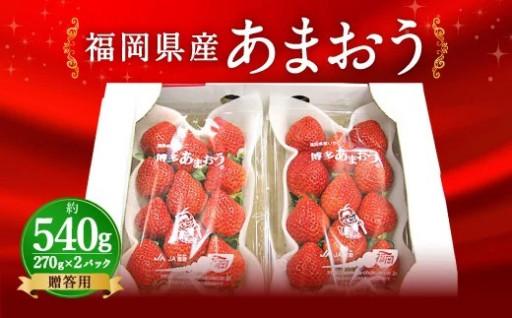 【先行予約】福岡県産 あまおう 2パック