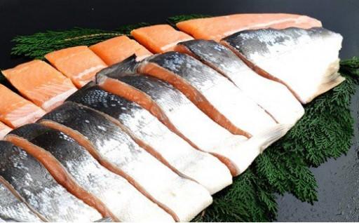 紅鮭全切身甘口(無頭)約2kg