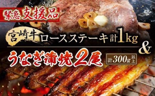 🚨緊急支援品🚨宮崎牛ロースステーキ&うなぎ✨