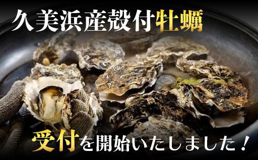久美浜産殻付牡蠣の受付を開始いたしました!