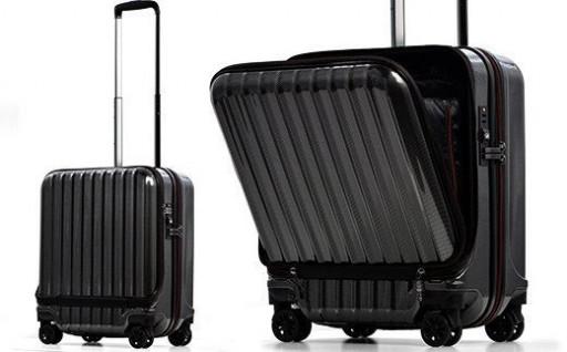 フロントオープン スーツケース 機内持ち込み対応