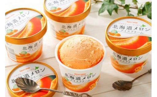 とよとみ牛乳と北海道産メロンの絶品アイスクリーム