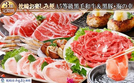 定期便(3回配送)枕崎お楽しみ便(お肉・お魚)