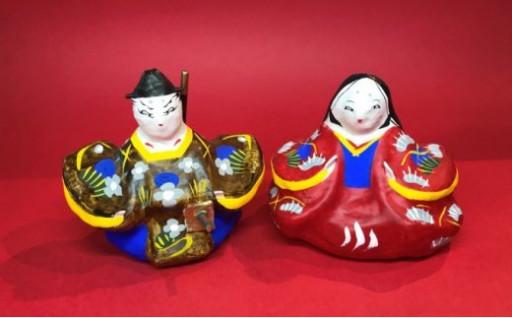 伝統工芸品 張り子 内裏雛(ひな人形 ひな祭り)