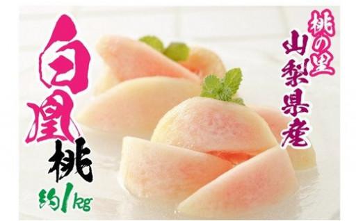 山梨県産 完熟桃 白鳳系 約1kg (2〜5玉)