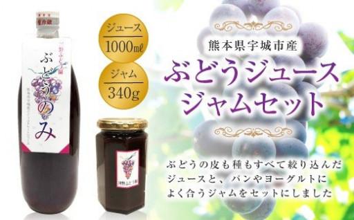 ぶどうジュース・ジャムセット 砂糖・防腐剤不使用