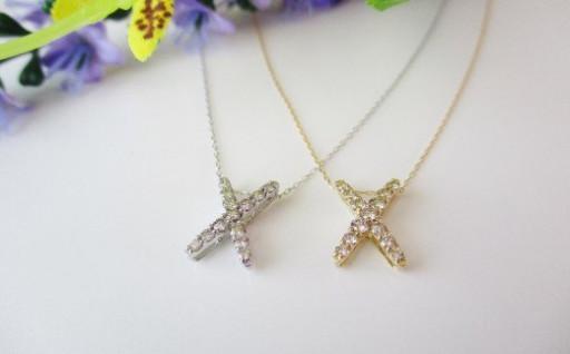 Xスタイルダイヤモンドペンダント
