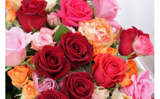 母の日のプレゼントにおすすめ!古河市のバラ花束