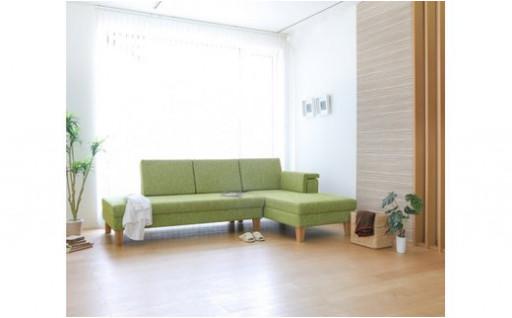 【旭川家具】 MUKU工房オリジナル L型ソファ
