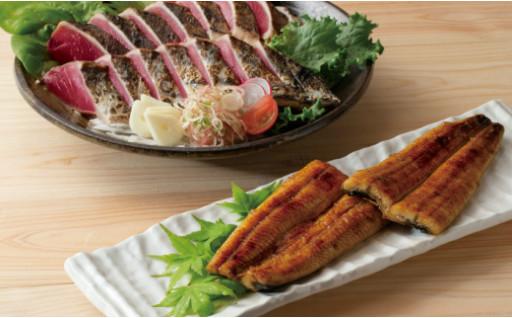 戻り鰹たたきと天の鰻蒲焼きセット(´ρ`)