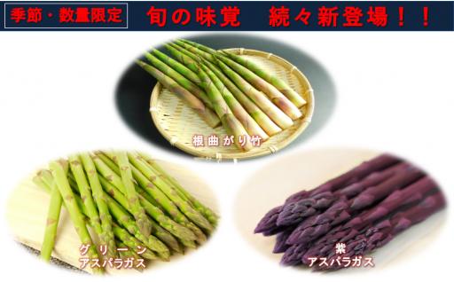 旬の味覚続々!山菜・アスパラガス