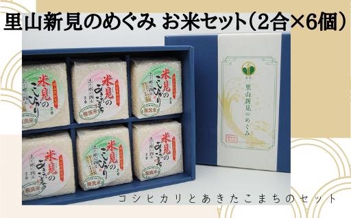 里山新見のめぐみ お米セット(2合×6個)