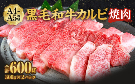 黒毛和牛 A4-5 カルビ 焼肉 300g×2