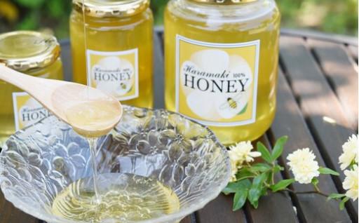 自然の甘味がギュッと濃縮された天然100%の蜂蜜