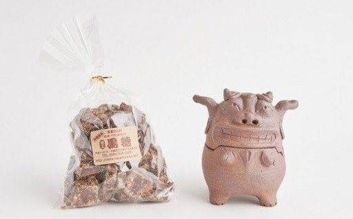 【中村家】砂糖入れシーサー&黒糖