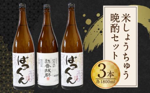 米焼酎 晩酌セット 計3本 各1800ml