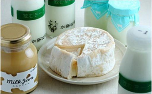 加藤牧場乳製品・カマンベール・ミルクジャムセット