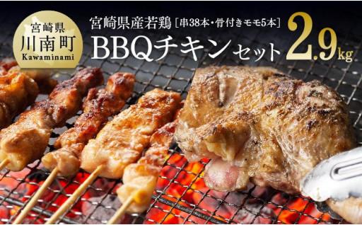 BBQにおすすめ!若鶏の串・骨付モモ肉!