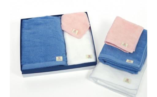 境港市産伯州綿を使用したタオル・ハンカチセット