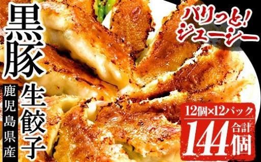 鹿児島黒豚生餃子 合計144個(12個×12P)