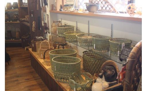 美しく編まれた竹細工 椀籠(わんかご)