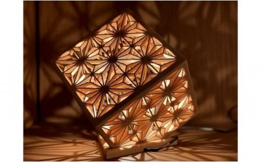 投影式組子ランプシェード 華キューブです♪♪