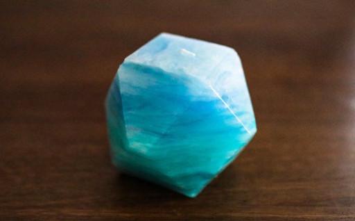 仁淀ブルーをイメージしたキャンドルです