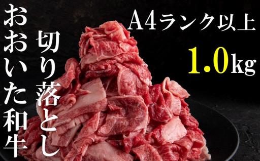 【事業者支援】おおいた和牛切り落とし1.0kg
