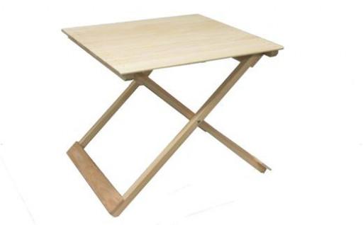 四万十ひのき使用『ヒノキの折りたたみテーブル』