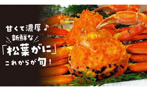 予約受付開始!蟹取県の「松葉ガニ」