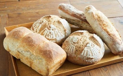 <ときはや石窯薪火パン>無糖、無塩パンセット