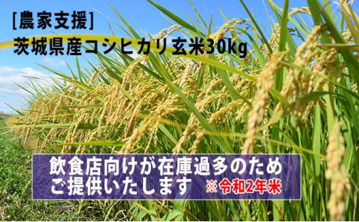 【緊急支援品】令和2年産コシヒカリ玄米30kg