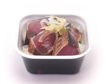藁焼きの鰹丼 柚子醤油風味