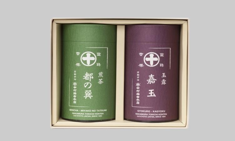 B-014 中村藤吉本店 煎茶「都の巽」・玉露「嘉玉」詰合せ