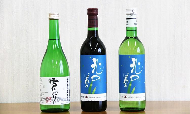 【10-13】呑兵衛セット【雪なごり720ml・ほたるワイン赤・白】