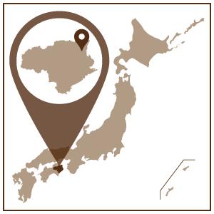 四国地方、徳島県の東部に位置する徳島市。 四国一の大河・吉野川をはじめ、市内に大小さまざまな川が縦横し、中心部には美しい眉山(びざん)がたたずむ水都です。 古くから阿波の国の中心地として栄え、阿波おどりや人形浄瑠璃などの文化が、現代まで受け継がれています。  江戸時代には藍の生産が盛んにおこなわれ、全国シェアをほぼ独占。阿波の国・徳島藩に繁栄をもたらしました。