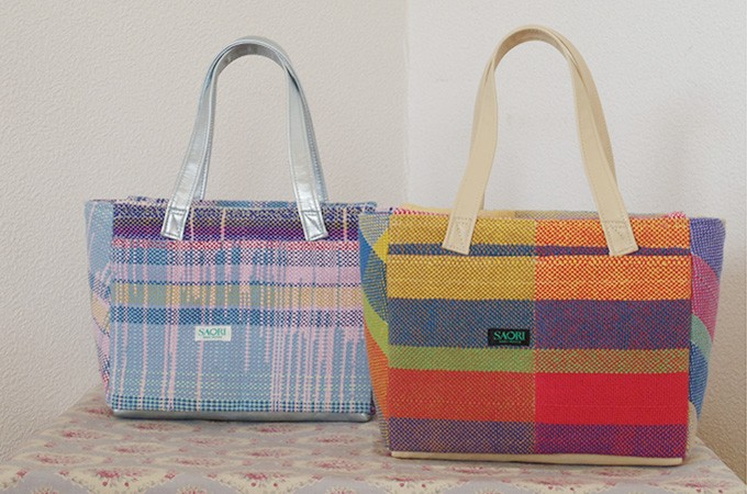 [№5712-0102]さをり織りバッグ
