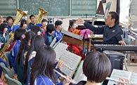 吹奏楽部の活動における中高連携事業