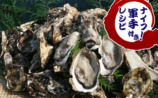 C008活き殻付牡蠣(加熱調理用)たっぷり4kg