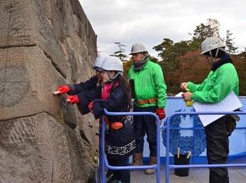 弘前城本丸石垣解体プレイベント(平成28年10月30日、11月13日)