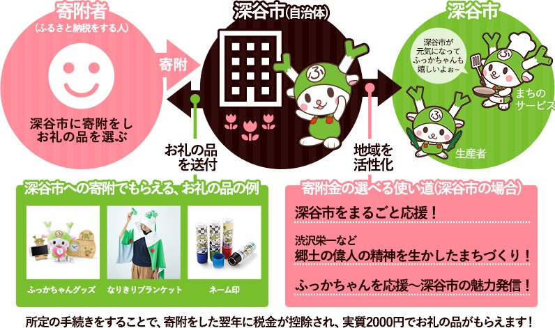 埼玉県深谷市のふっかちゃんとお勉強するはじめてのふるさと納税