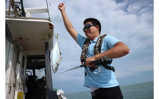 [I-5801] エンジョイ♪ファミリーフィッシング 三国沖 朝釣り体験 5名様分