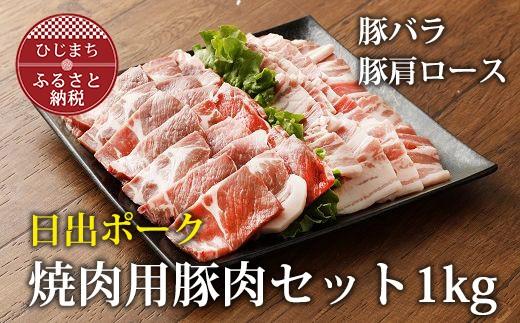 【日出ポーク】焼肉用 豚肉セット【合計1kg】