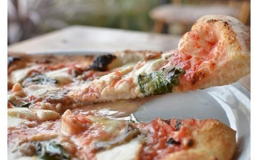 C0025.イタリアンレストランの石窯焼きナポリピザセット