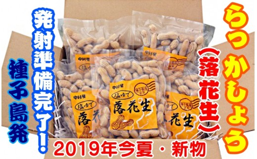 種子島 塩ゆで落花生 300g×5袋 300pt NFN031