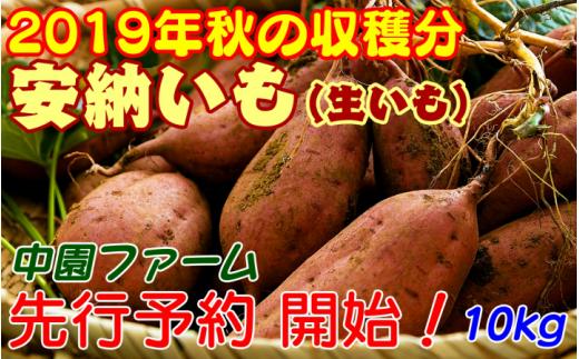 中園ファームの熟成安納芋(生芋)Mサイズ 10kg 300pt NFN058